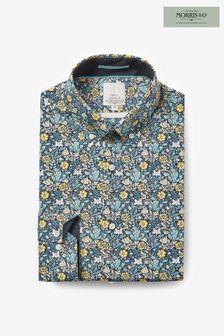 Compton Slim Fit Single Cuff Morris & Co X Next Signature Print Shirt