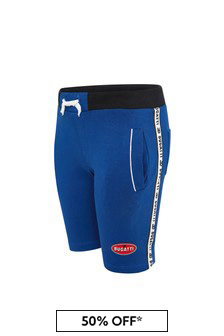 Bugatti Baby Boys Blue Cotton Shorts