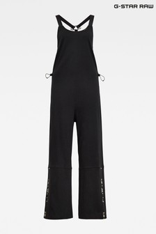 G-Star Black Dungaree Jumpsuit