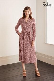 Boden Brown Ottilie Shirt Dress