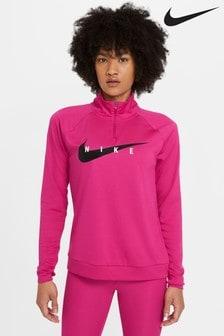 Nike Curve Swoosh Run 1/2 Zip Sweat Top