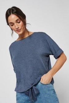 Navy Soft Viscose T-Shirt