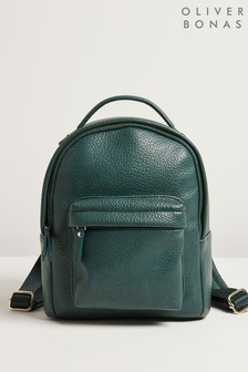 Oliver Bonas Zuri Teal Green Rounded Small Backpack