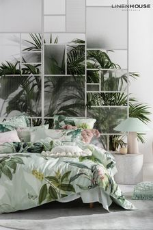 Glasshouse Large Botanical Duvet Cover and Pillowcase Set by Linen House