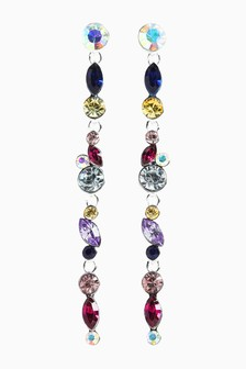 Multicolour Crystal Drop Earrings