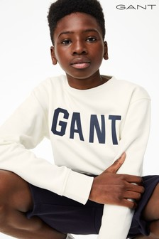 GANT Teen Boys Logo C-Neck Sweat Top