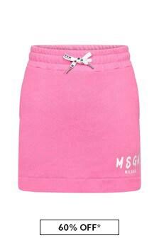 Girls Pink Cotton Skirt