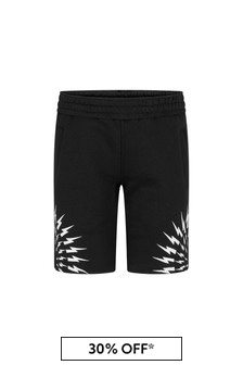 Neil Barrett Boys Black Cotton Shorts