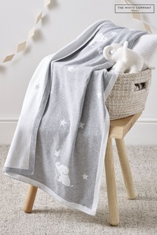 The White Company Grey Kimbo Star Blanket