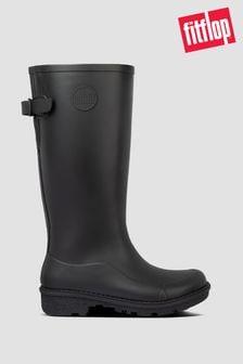 FitFlop™ Black Wonderwelly Tall Wellington Boots