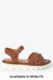 Tan Regular/Wide Fit Forever Comfort® Flatform Sandals