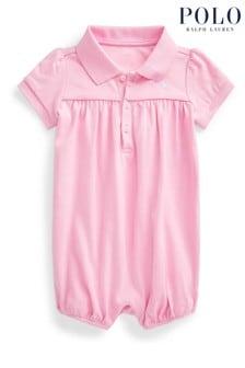 Ralph Lauren Pink Polo Romper