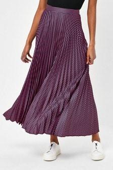Pink Gingham Pleat Skirt