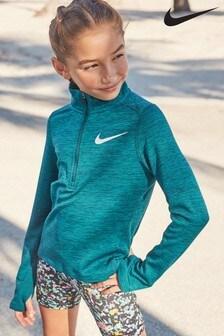 Nike Teal 1/2 Zip Running Top