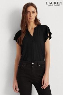 Lauren Ralph Lauren® Ruffle Sleeve Jersey Haji Blouse