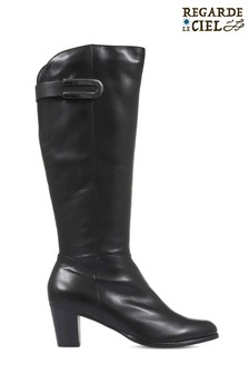 Regarde Le Ciel Sonia 05 Heeled Leather Knee High Boots