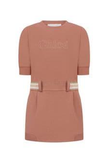 Chloe Kids Girls Orange Jersey Dress