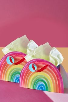 Set of 2 Rainbow Shaped Gift Bags