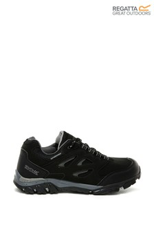 Regatta Black Holcombe Low Junior Walking Shoes