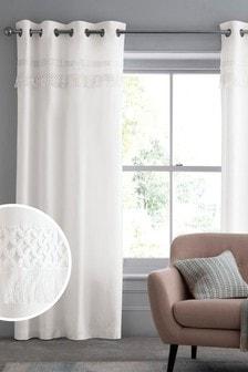 Fringe Eyelet Lined Curtains