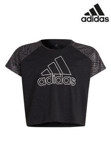 adidas Performance Printed Panel Cropped T-Shirt