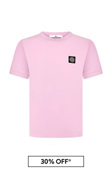 Boys Pink Cotton T-Shirt