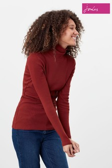 Joules Red Clarissa Roll Neck Jersey Top