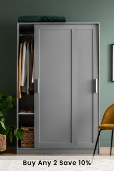 Grey Flynn Sliding Wardrobe