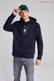 Tommy Hilfiger Blue Icon Flag Hoodie