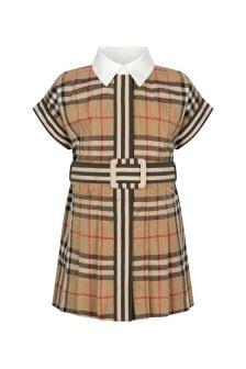 فستان قطن بيج للبنات البيبي