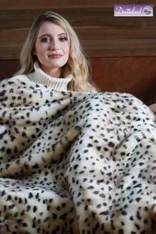 Dreamland Leopard Print Luxury Faux Fur Heated Throw