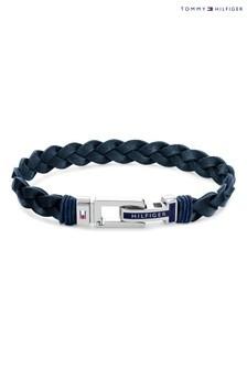Tommy Hilfiger Navy Leather Bracelet