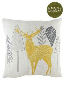 Hulder Stag Cushion by Evans Lichfield