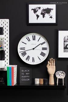 Jones Clocks Magazine Black Wall Clock