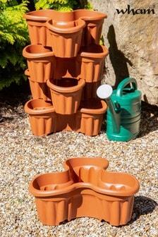 Set of 5 Vista Medium Tri Garden Planters by Wham