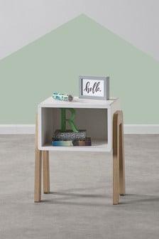 White/Oak Compton Bedside Table