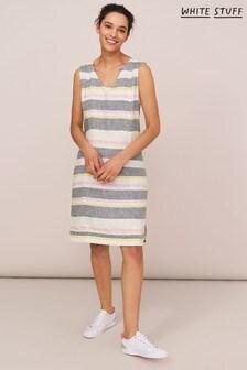 White Stuff Ellinor Stripe Linen Dress
