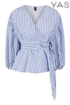 Y.A.S Blue Monira Striped Top