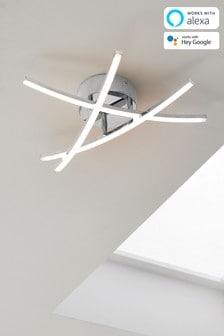 Chrome Smart Enabled Amari Flush Ceiling Light