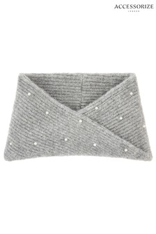 Accessorize Grey Pearl Snood