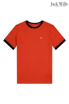 Jack Wills Boys Orange T-Shirt