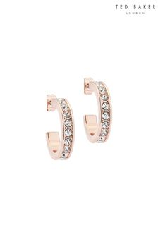 Ted Baker Metallic Seanna Small Crystal Hoop Earrings