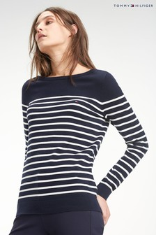 Tommy Hilfiger Heritage Boat Neck Striped Sweater