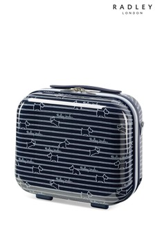 Radley Dog Stripe Hard Shell Vanity Case