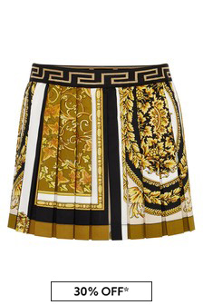 Versace Baby Girls White Cotton Skirt