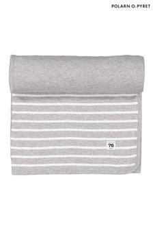 Polarn O. Pyret Grey GOTS Organic Striped Blanket
