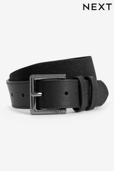 Black Leather And Elastic Belt