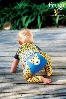 Frugi Organic Cotton Leopard Knitted Leggings