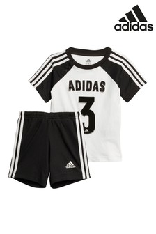 adidas Infant Black/White Short And T-Shirt Set