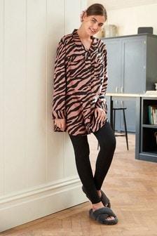 Tiger Shacket Legging Pyjama Set
